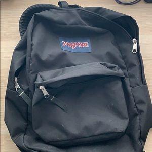 Simple Black Jansport Bag